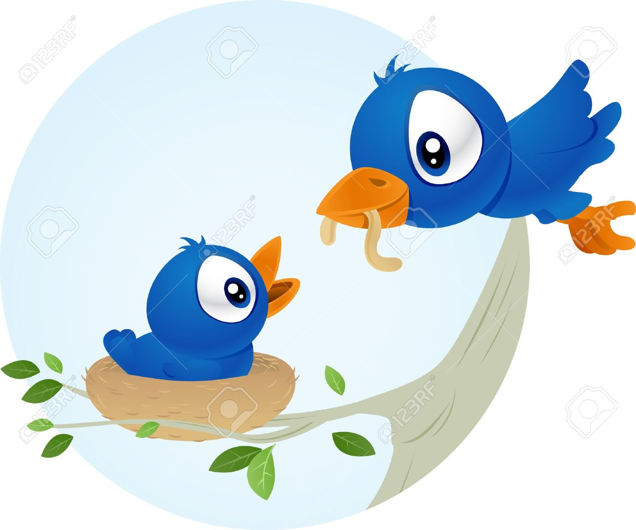 1300x1082 Bird Clipart Mother And Baby