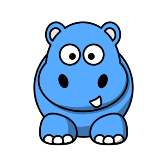 340x340 Blue Baby Animal Clipart