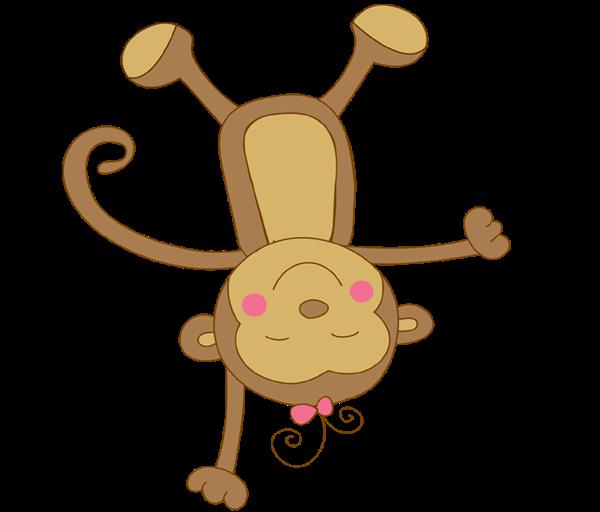 600x512 Animal Clipart Baby Monkey