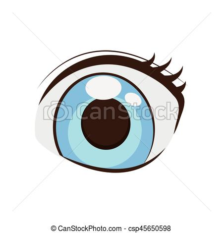 450x470 Anime eyes style comic vector illustration eps 10.