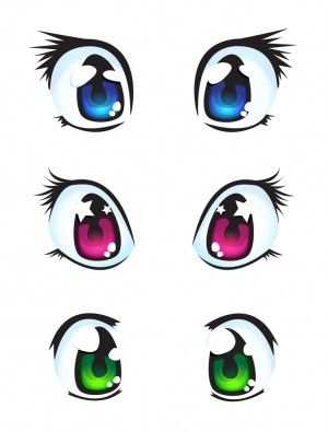 300x395 Blue, pink and green eyes Mangaanime Eyes Pinterest Green