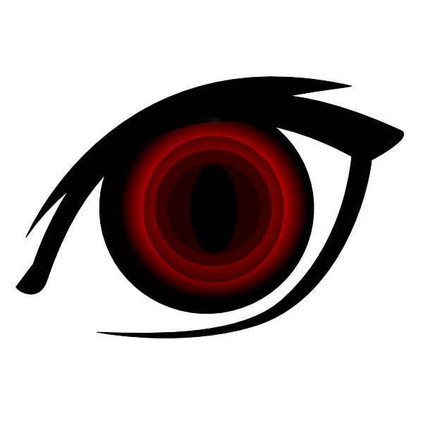 600x600 Vampire Anime Eye Clip Art