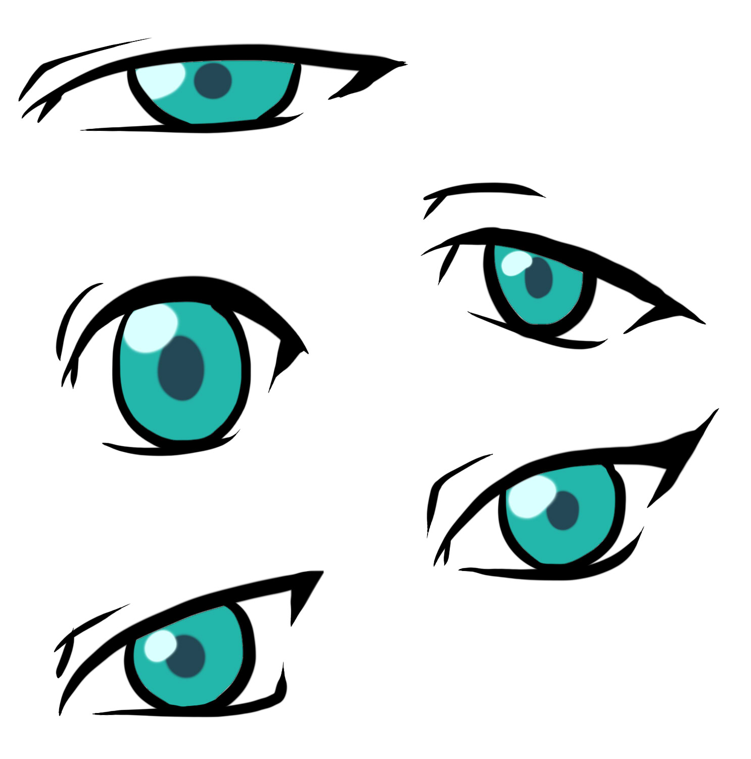 1486x1502 Anime Clipart Cartoon Eye