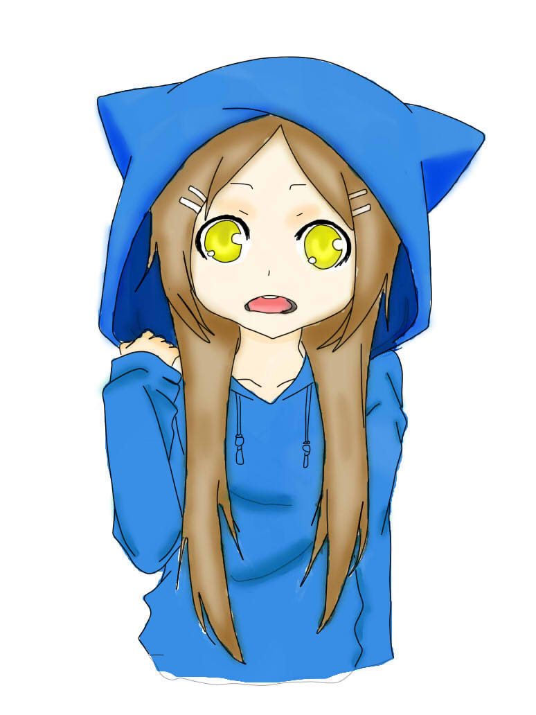 774x1032 Anime Girl Neko Clipart