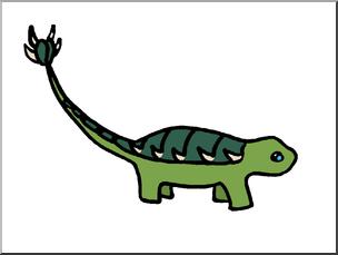 304x229 Clip Art Cute Dinos Ankylosaurus Color I Abcteach