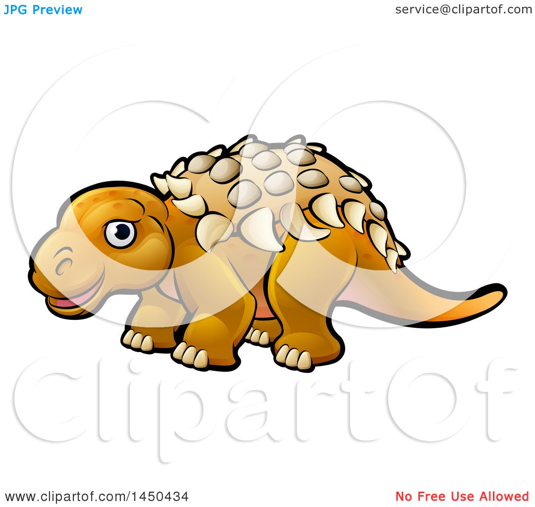 1080x1024 Clipart Graphic Of A Cartoon Ankylosaurus Dino