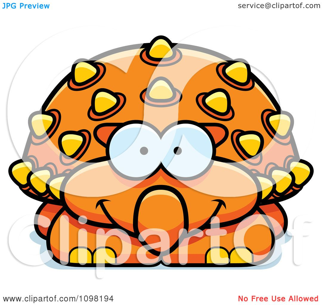 1080x1024 Clipart Happy Orange Ankylosaurus Dinosaur