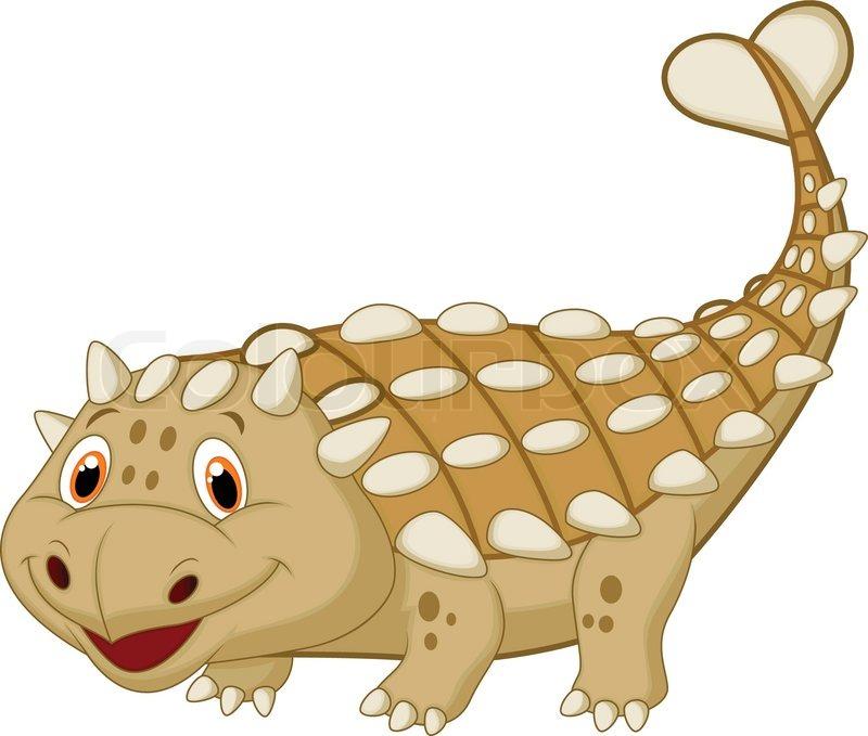 800x679 Cute Dinosaur Ankylosaurus Cartoon Stock Vector Colourbox