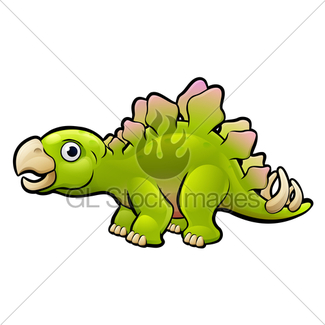325x325 Ankylosaurus Dinosaur Cartoon Character Gl Stock Images