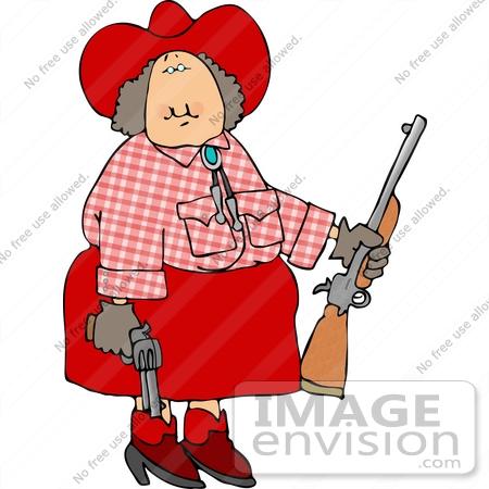 450x450 Annie Oakley Cowgirl With Guns Clipart
