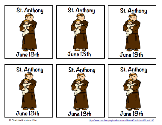 541x418 Faith Filled Freebies Free Clip Art For The Feast Of St. Anthony