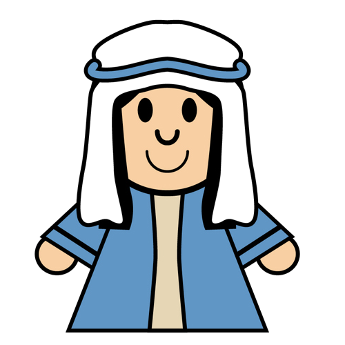 500x500 Mary And Joseph Clipart Collection