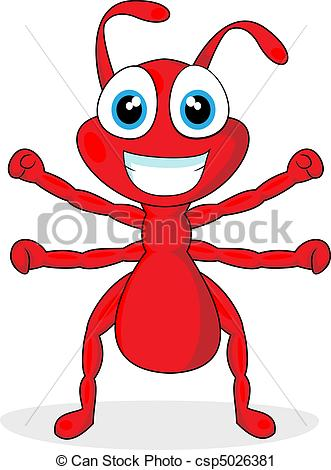 331x470 Cute Little Red Ant Vector Illustration Of A Cute Little