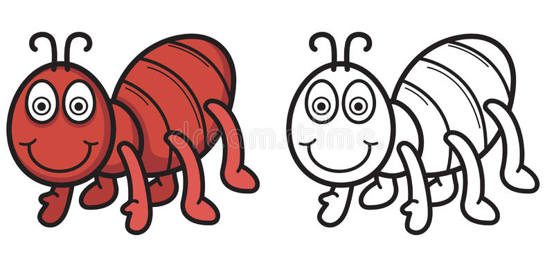 800x374 Ant Clipart Black And White Colorful And Black And White Ant Stock