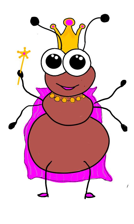 562x940 Insect Clipart Queen Ant