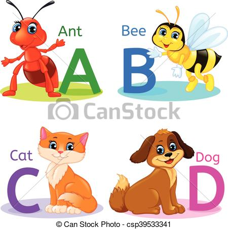450x452 Alphabet Kids Animals Abcd. Abcd Alphabet Wildlife. Ant, Bee, Cat