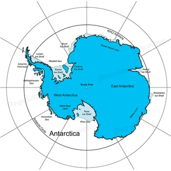 350x350 Antarctica Maps Clip Art Map Set By Maps Of The World Tpt