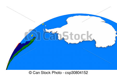 450x290 Antarctica On Earth. Simple Map Of Antarctica On Globe, Stock