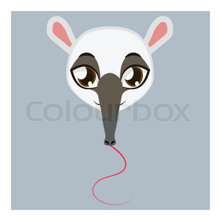 320x320 Big Anteater Vector Illustration Flat Style Profile Side Stock