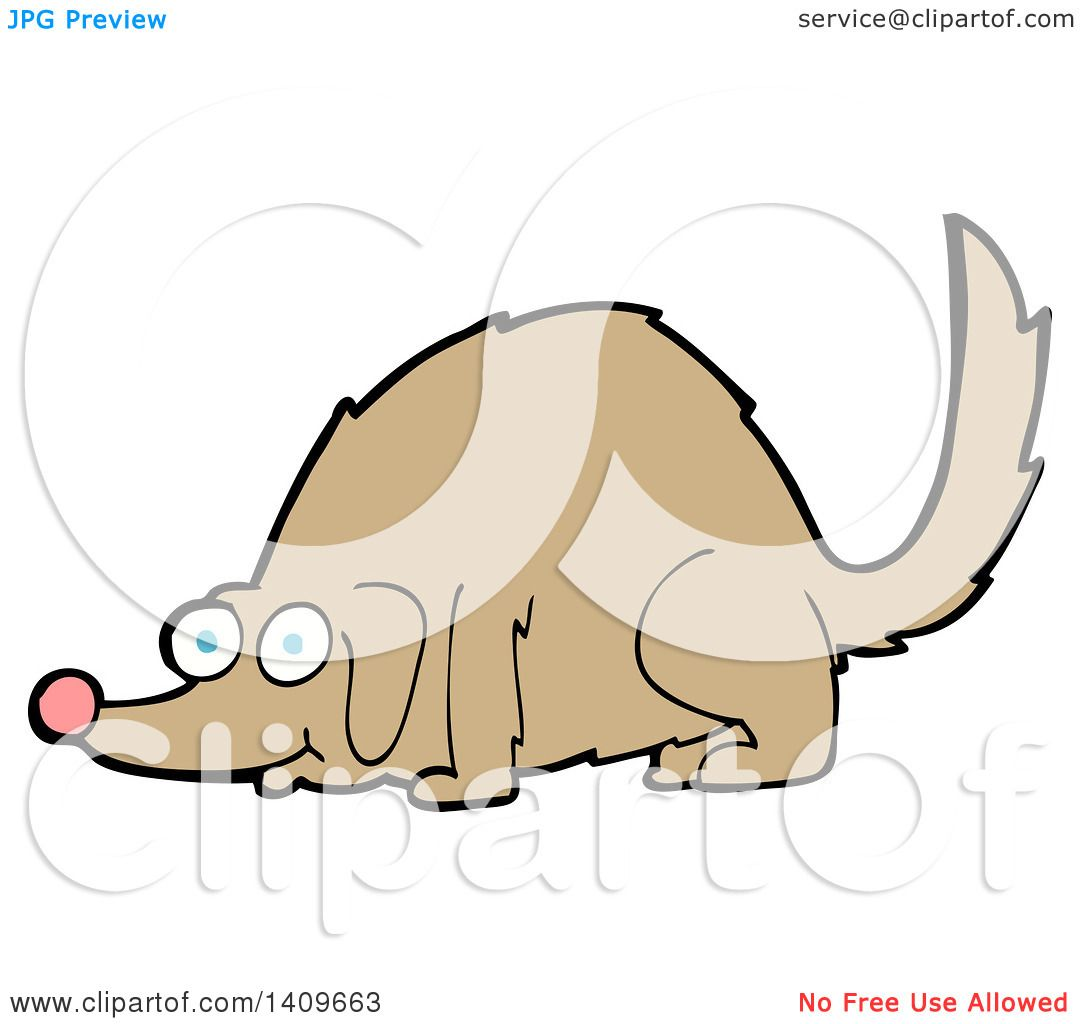1080x1024 Clipart Of A Cartoon Dog Sniffing