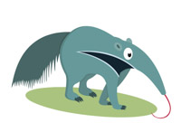 200x146 Free Anteater Clipart