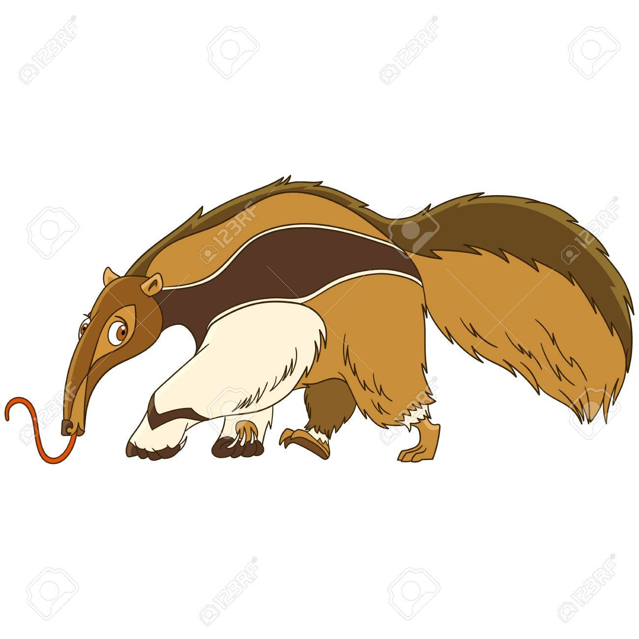 1300x1300 Practical Cartoon Ant Eater Cute And Funny Anteater Animal