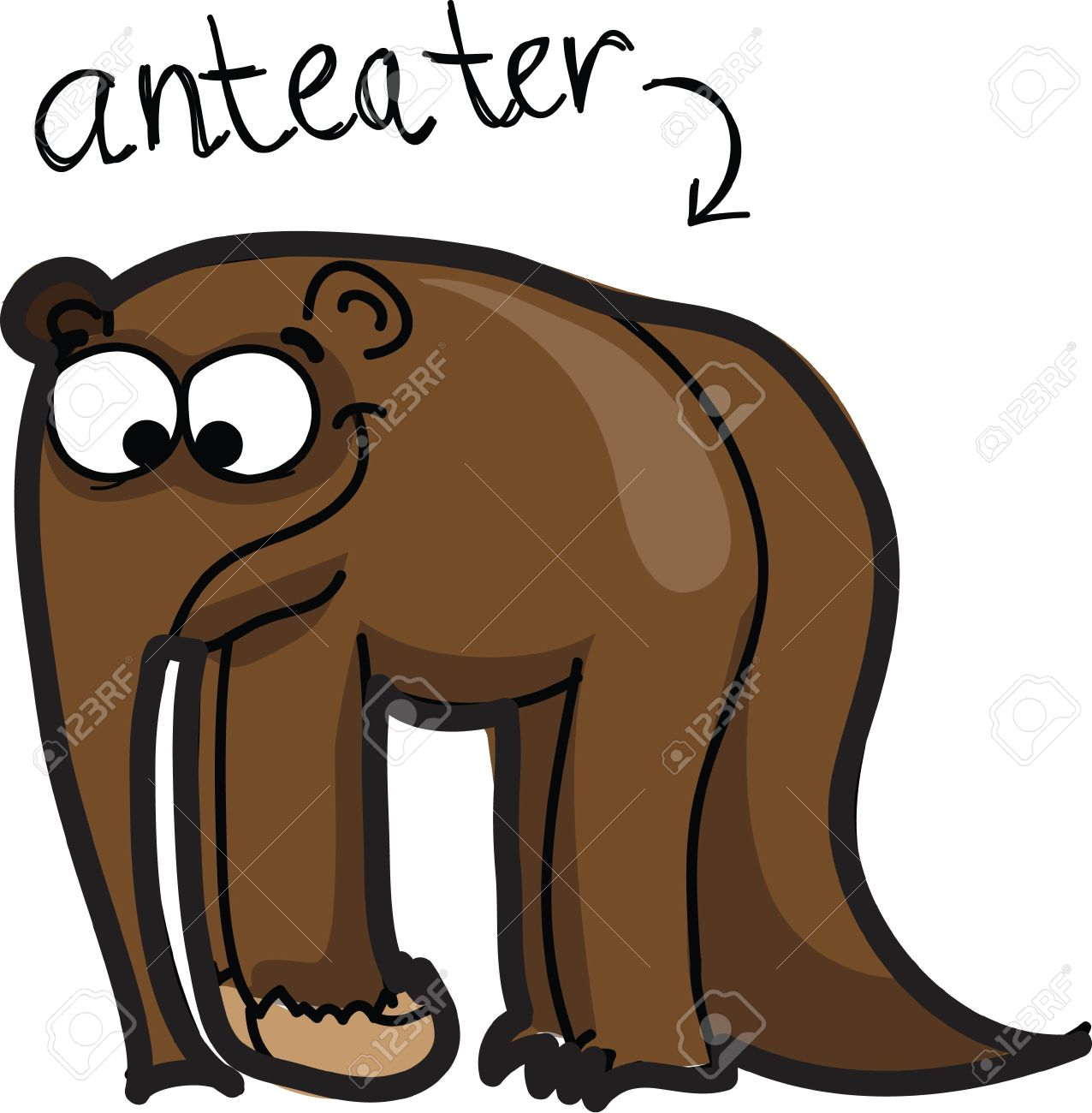 1276x1300 Revealing Cartoon Ant Eater Cute Anteater Royalty Free Cliparts