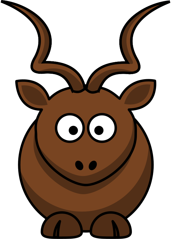 572x800 Free Clipart Cartoon Kudu Martouf