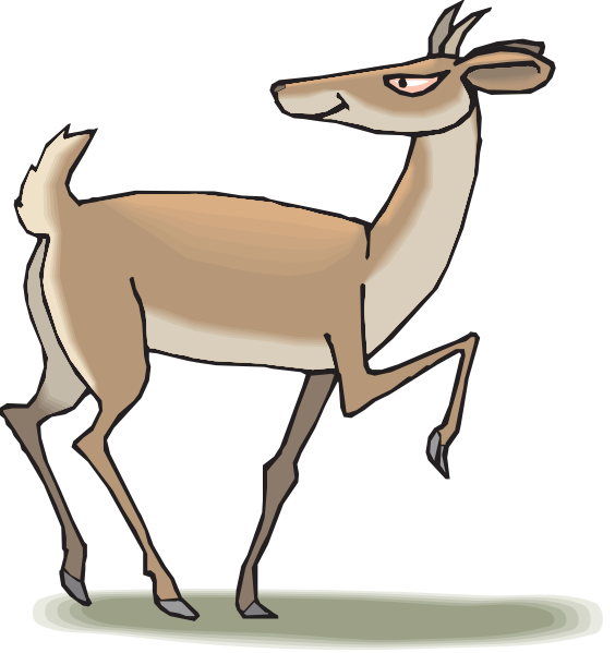 564x599 Leaping Antelope Clip Art Clipart Panda