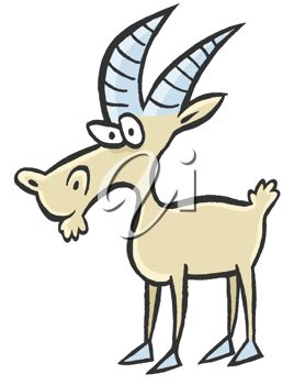 268x350 Picture Of A Goat Cartoon In A Vector Clip Art Illlustration