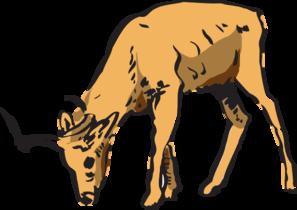297x210 Antelope Eating Clip Art