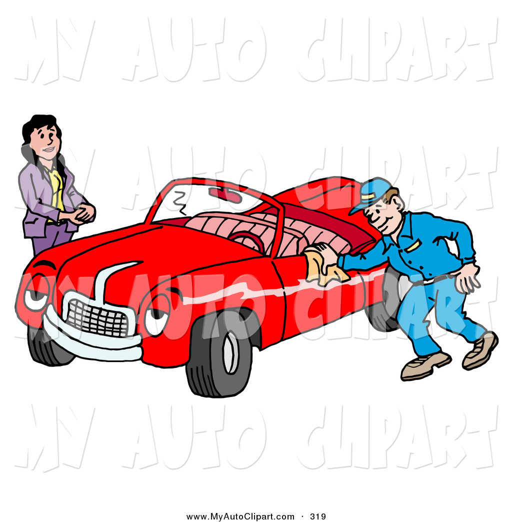 1024x1044 Clip Art Of A Pleasant Auto Mechanic Repairman Smiling While