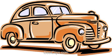 480x240 1940's Auto Royalty Free Vector Clip Art Illustration Tran0833
