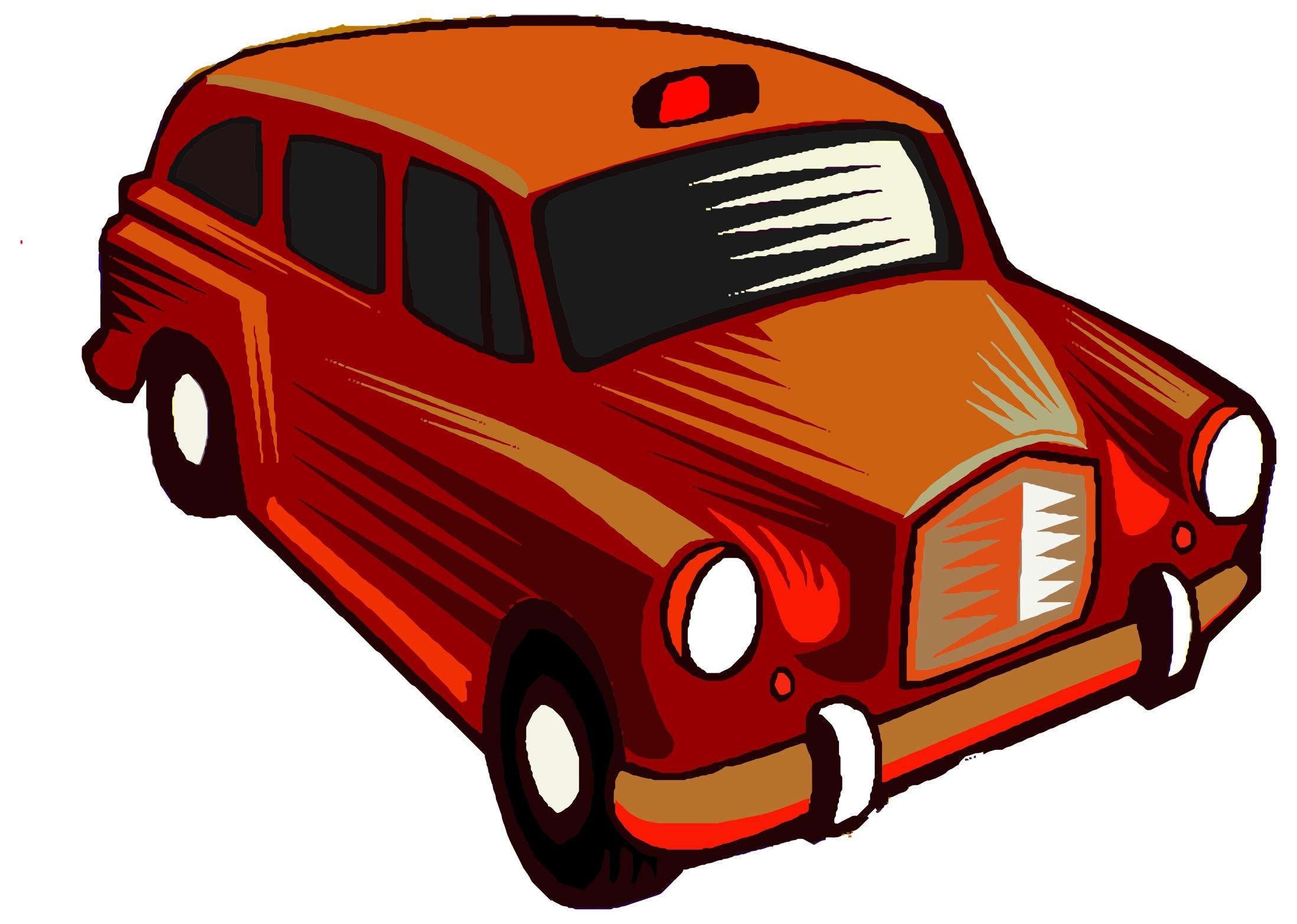 2197x1565 Red Taxi Cab Clipart