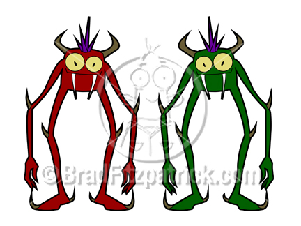 432x324 Cartoon Monsters Clipart Picture Royalty Free Monsters Clip Art