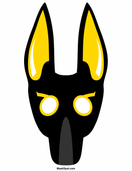 263x340 Collection Of Anubis Mask Drawing High Quality, Free