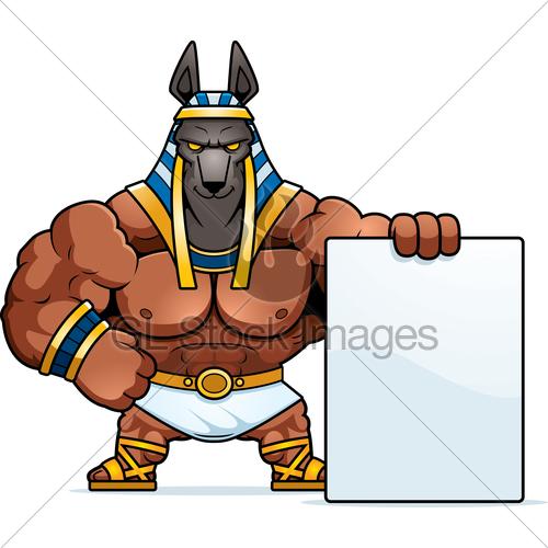 500x500 Cartoon Anubis Sign Gl Stock Images