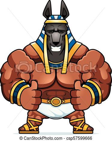 373x470 Cartoon Anubis Thumbs Up. A Cartoon Illustration Of Anubis Clip