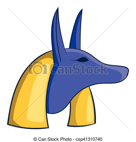 450x470 Ancient Egyptian God Anubis Icon, Cartoon Style. Ancient Eps