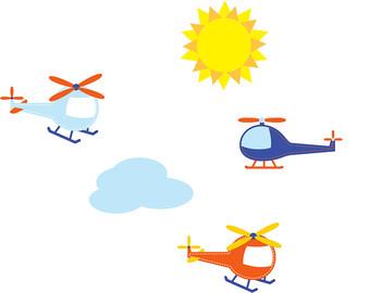 340x270 Helicopter Vinyl Etsy