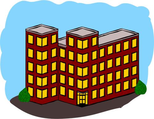Apartment Building Clipart