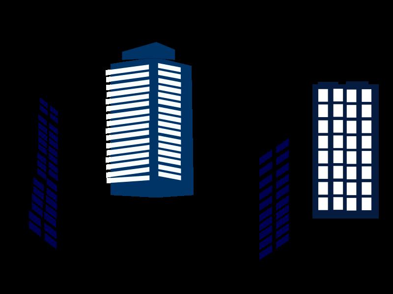 800x600 Apartment Complex Clipart Outline