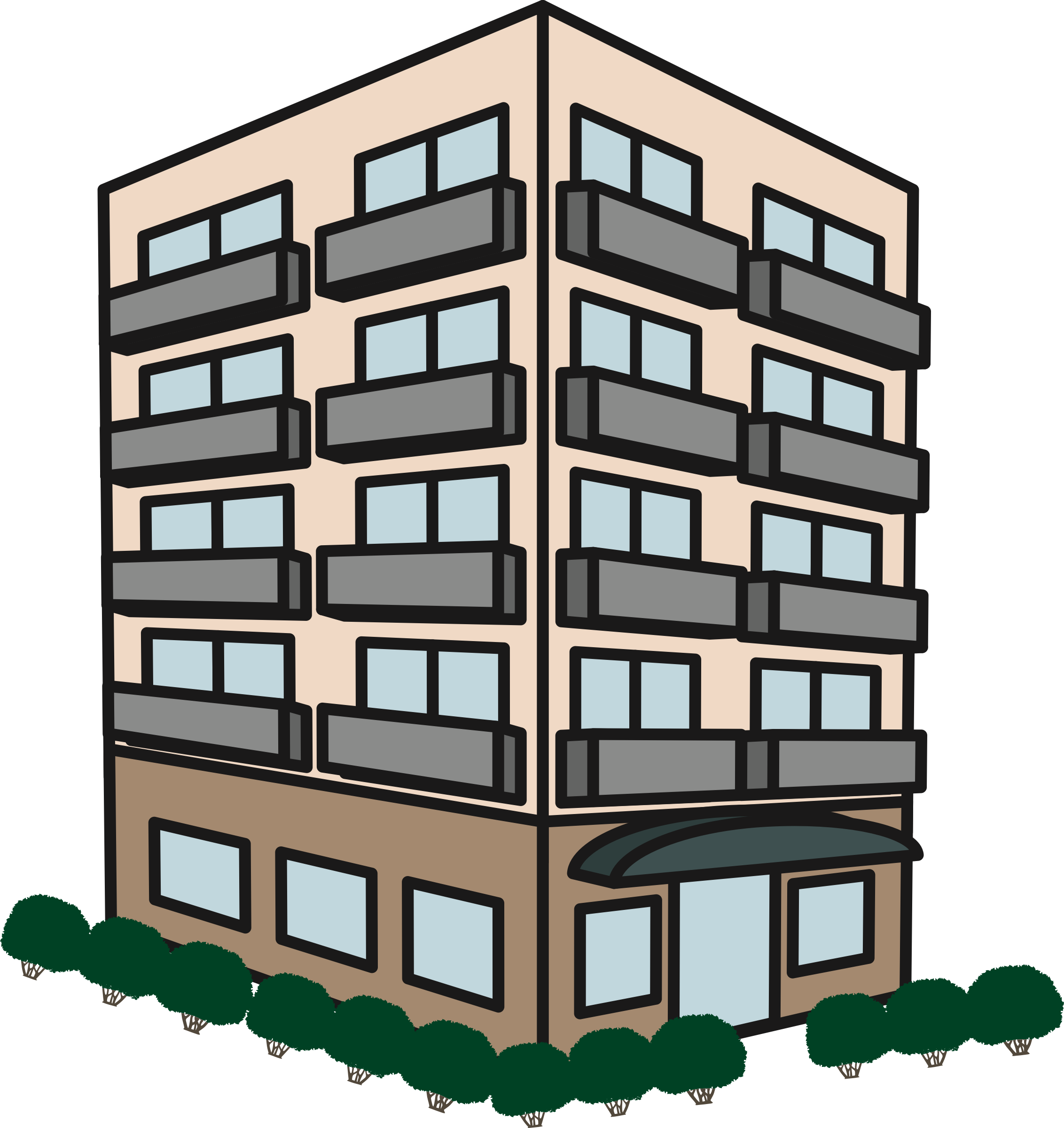 2264x2400 Apartment Building Icons Png
