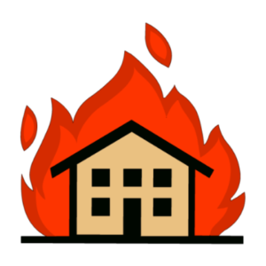 300x300 Apartment Complex Clipart Fire