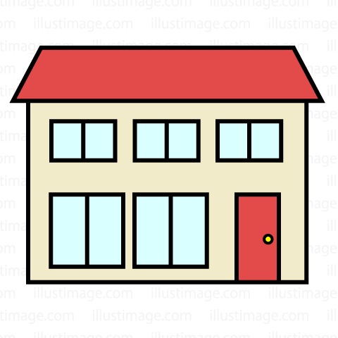 480x480 Free Two Story House Clip Art Cartoon Amp Clipart