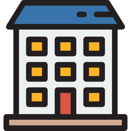 512x512 Apartment Complex Clipart Residential Building