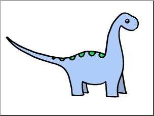 304x229 Clip Art Cute Dinos Apatosaurus Color I Abcteach