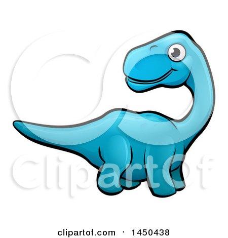 450x470 Clipart Graphic Of A Cartoon Blue Apatosaurus Dino