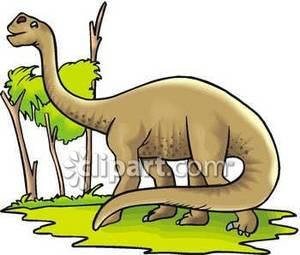 300x255 Apatosaurus Eating Tree Leaves