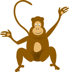 288x300 7437 Cartoon Monkey Smiling Clipart Public Domain Vectors